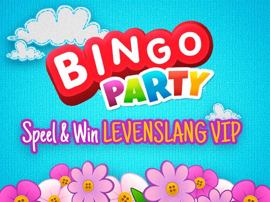 Win Levenslang VIP bij Bingo Party!