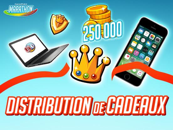 Distribution de Cadeaux : vous déterminez les prix mis en jeu !