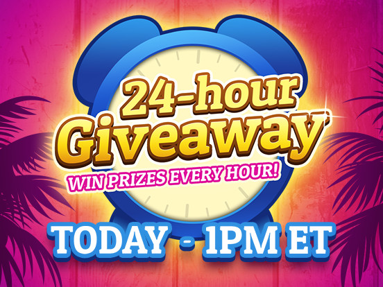 24-hour Giveaway today!