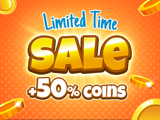+50% Extra Coins!
