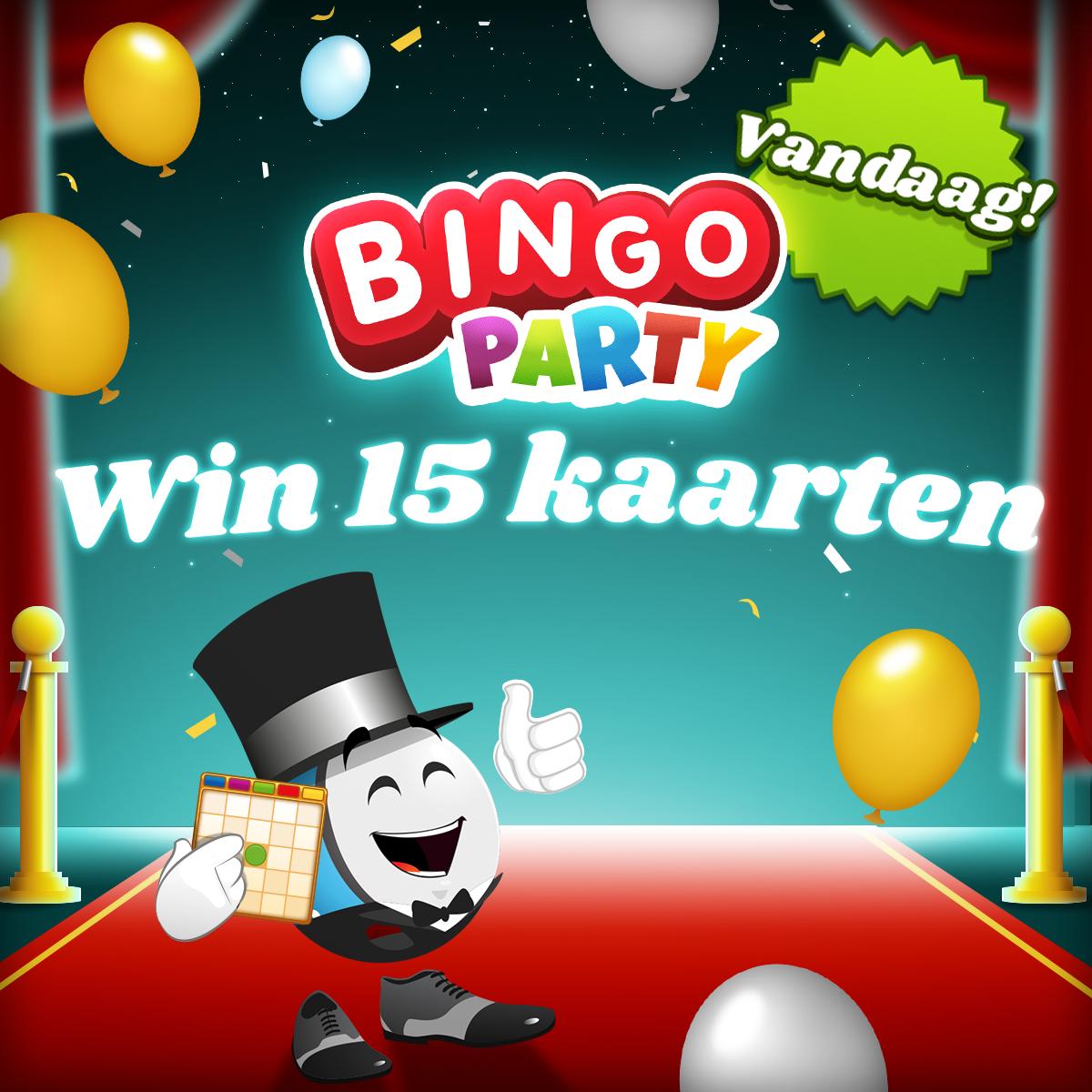 15 kansen om Bingo Party te winnen