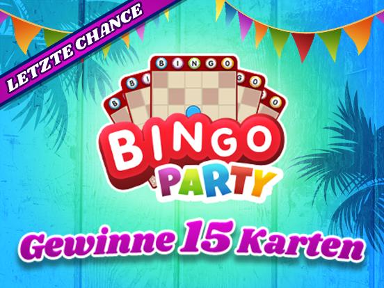 Letzte Chance auf GRATIS Bingo Party Karten