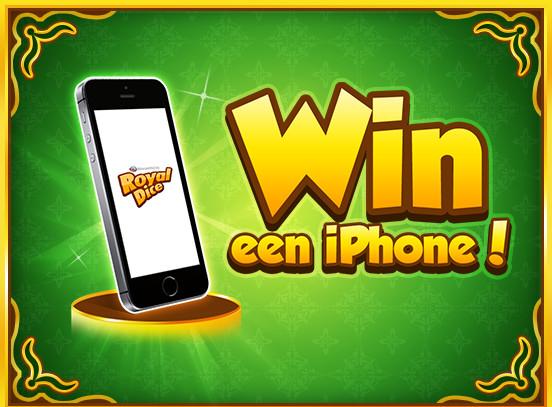 Win een iPhone bij RoyalDice!