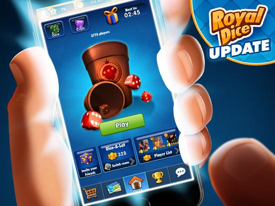 Look at the new RoyalDice mobile menu!