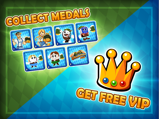 Medals mean FREE VIP!