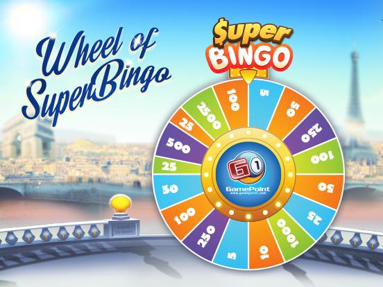 Spin the Wheel of SuperBingo!