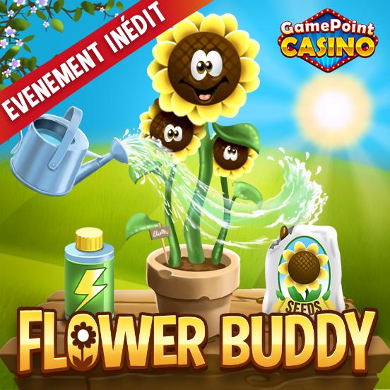 Faîtes la connaissance de Flower Buddy sur GamePoint Casino