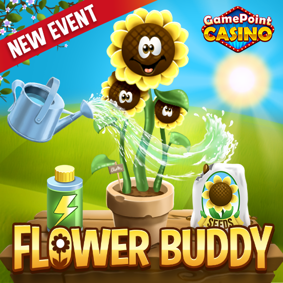Meet your Flower Buddy in GamePoint Casino!