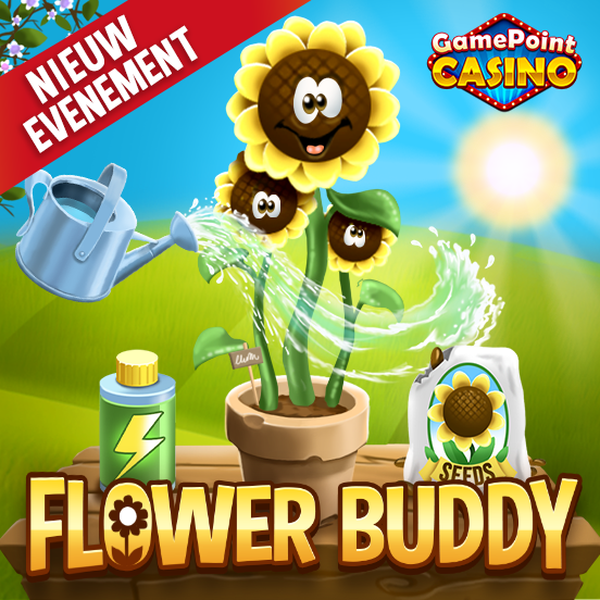 Ontmoet nu jouw Flower Buddy in GamePoint Casino!