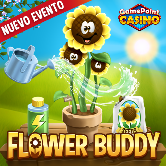 ¡Conoce a tu Flower Buddy en GamePoint Casino!