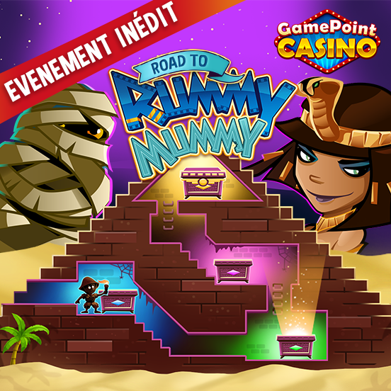 Road to Rummy Mummy sur GamePoint Casino !
