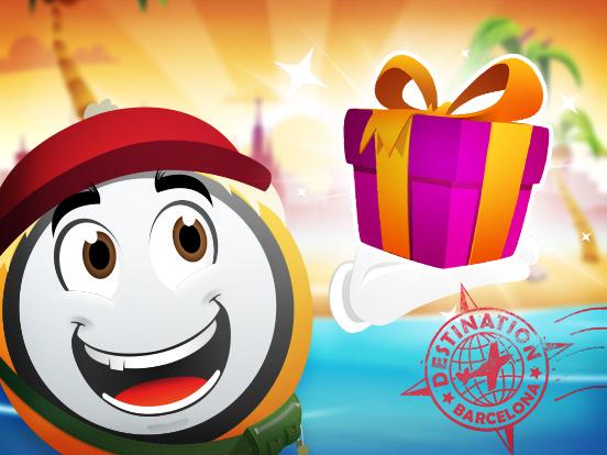 Distribution de Cadeaux à Barcelone !