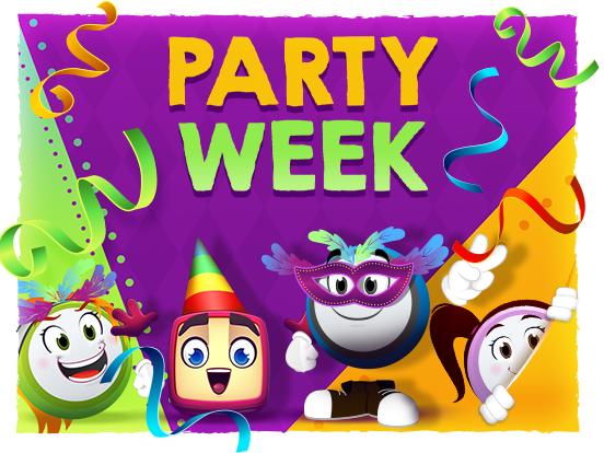 Were celebrating Party Week!
