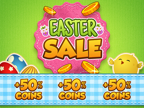 The Easter Sale is here: 50% Extra Coins!